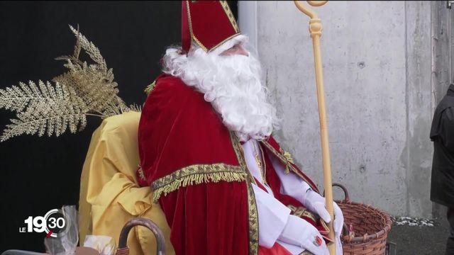 Les festivités autour de la Saint-Nicolas n'ont pas eu lieu, mais les Fribourgeois ont célébré le Saint-Patron à leur façon. [RTS]