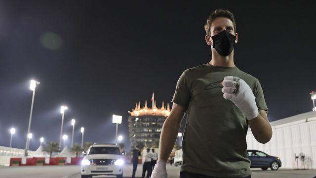 Grosjean doit renoncer au Grand Prix d'Abu Dhabi. [Kamran Jebreili - Keystone]