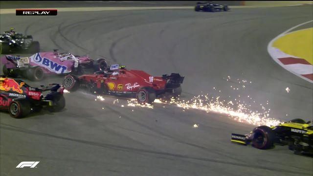 GP de Bahreïn (#16): départ de course mouvementé, Max Verstappen (NED) finit dans le décor [RTS]