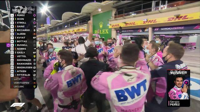GP de Bahreïn (#16): première victoire en carrière pour Sergio Perez (MEX) [RTS]
