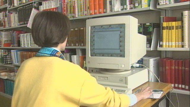 Bibliothèque du Valais en 1995. [RTS]