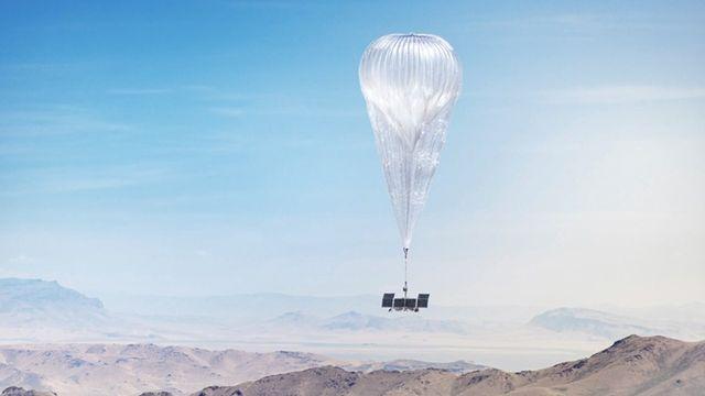 Ballon stratosphérique embarquant du matériel de télécommunication [Loon]