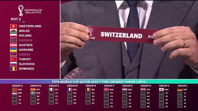 Tirage au sort: la Suisse avec l'Italie. l'Irlande du Nord, la Bulgarie et la Lituanie [RTS]