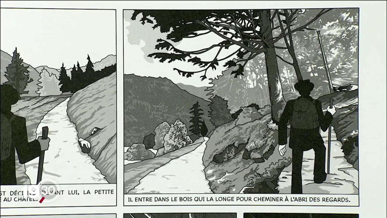 Simon, dessinateur, retrace dans une BD la vie d'un mystérieux personnage du XIXe siècle réfugié en Valais [RTS]