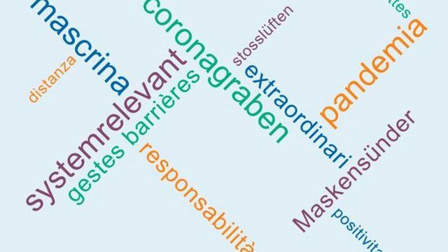 Dans les quatre régions linguistiques suisses, tous les mots de l'année sont liés de près ou de loin à la pandémie de Covid-19. [ZHAW]