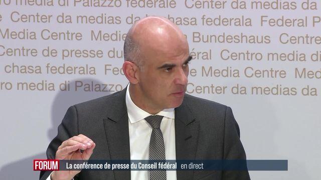 La conférence de presse du Conseil Fédéral [RTS]