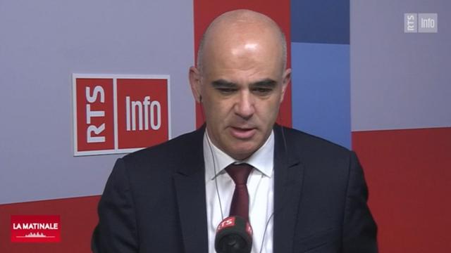 Alain Berset, invité de La Matinale du mercredi 9 décembre 2020. [RTS]