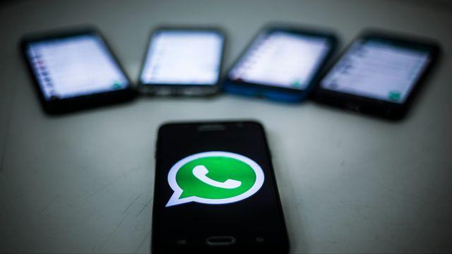 L'application de messagerie instantanée WhatsApp compte plus de deux milliards d'utilisateurs dans le monde. [Paulo Paiva - AGIF]