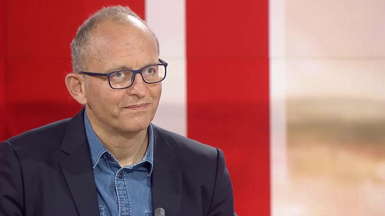 """Bertrand Kiefer au """"19h30"""" de la RTS en février 2020. [RTS - RTS]"""