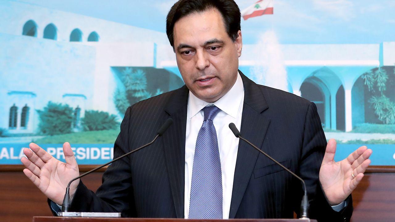 Le Premier ministre libanais Hassan Diab est inculpé en lien avec l'explosion du port de Beyrouth. [DALATI NOHRA - EPA]