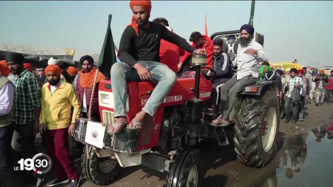 La colère gronde parmi les agriculteurs indiens. [RTS]