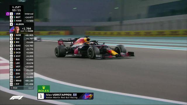 Formule 1, GP d'Abu Dhabi: Verstappen (NED) s'impose devant Bottas (FIN) 2e et Hamilton (GBR) 3e [RTS]