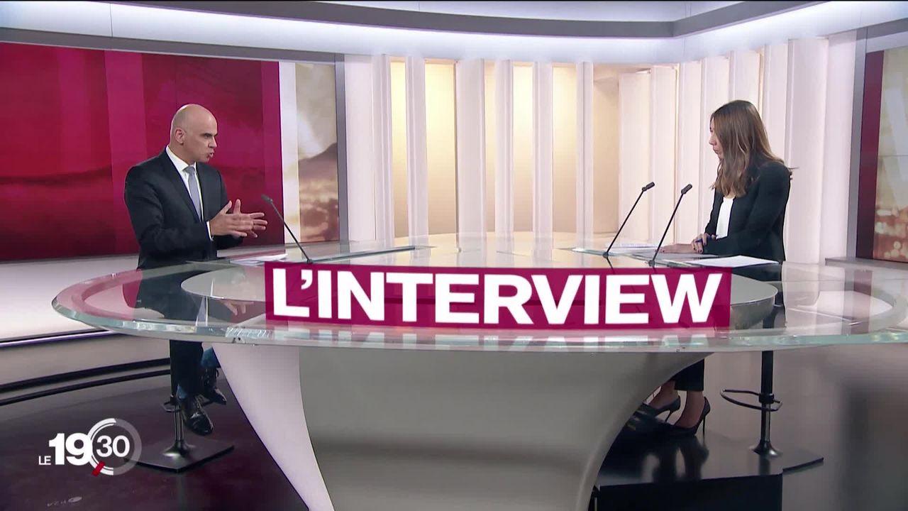 L'interview d'Alain Berset, conseiller fédéral en charge de la Santé. [RTS]