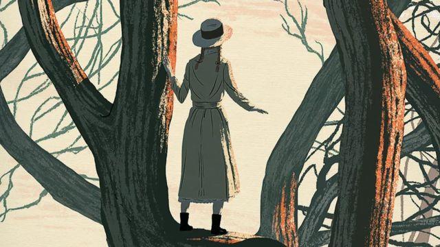 """Détail de la couverture de """"Anne de Green Gables"""", de Lucy Maud Montgomery. [Editions Monsieur Toussaint Louverture]"""