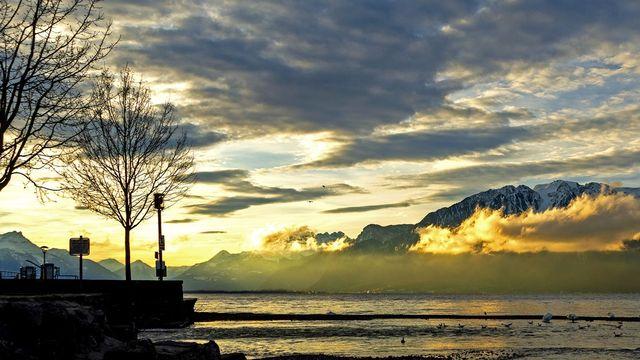 Haut-lac le dimanche 13 décembre 2020 [Christian Gauthey - RTS]
