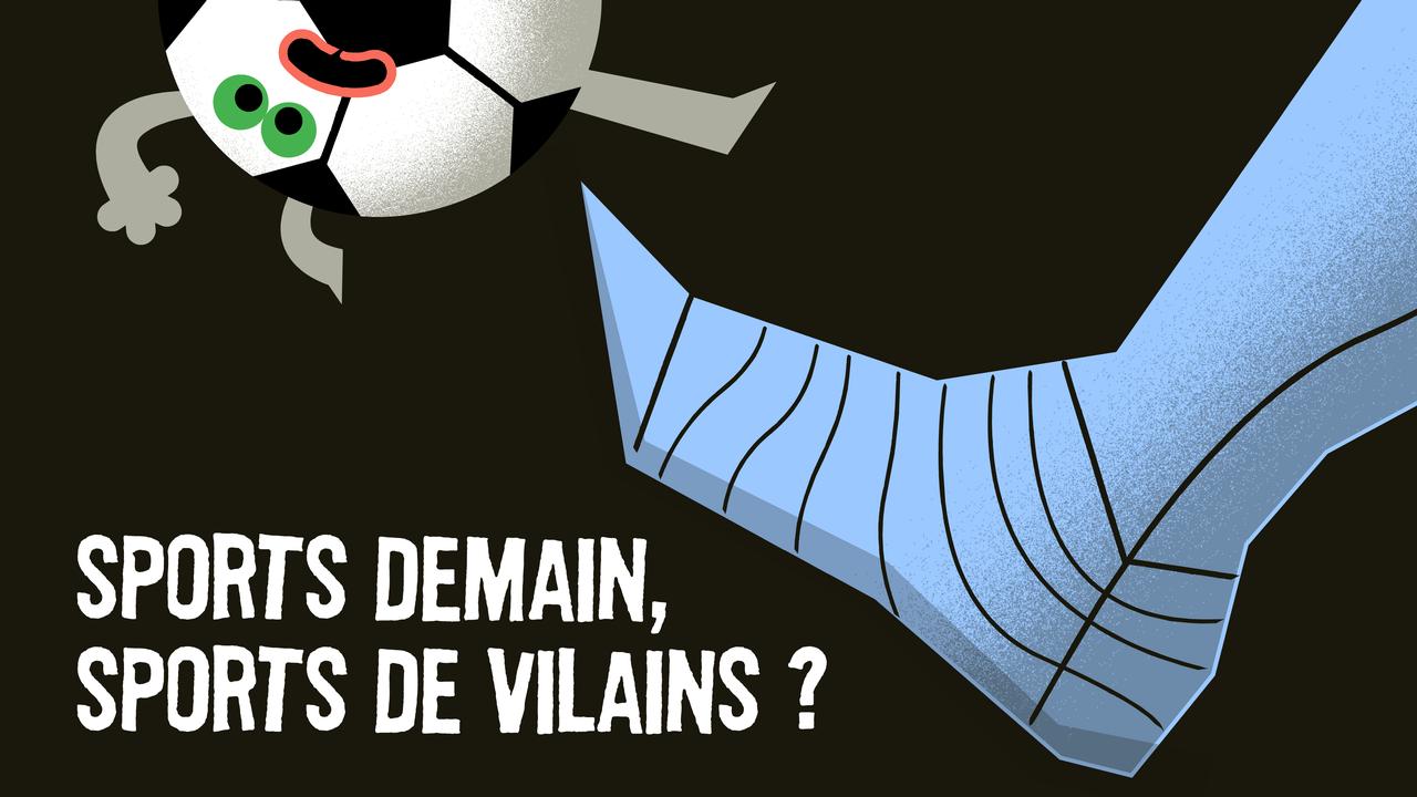 Sports demain, sports de vilains?, un épisode de Paléofutur [© CartoonBase - RTS Découverte]