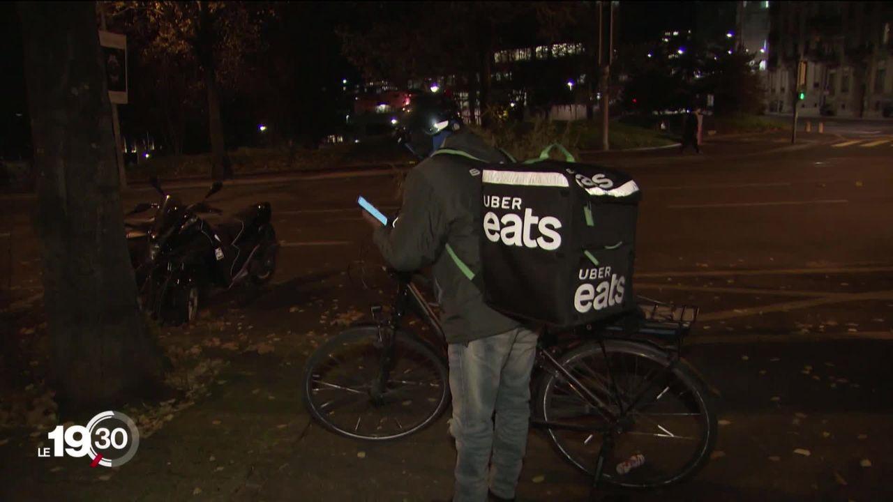 L'instauration d'un salaire minimum à Genève impacte les livreurs d'Uber Eats, désormais privés de leurs pourboires [RTS]