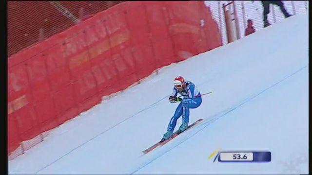 La chute de Silvan Zurbriggen lors de la descente de Val Gardena 2007 [RTS]