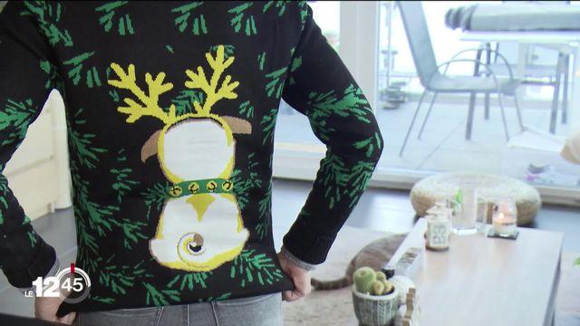 Le kitsch des pulls de Noël revient à la mode durant les Fêtes de fin d'année. [RTS]