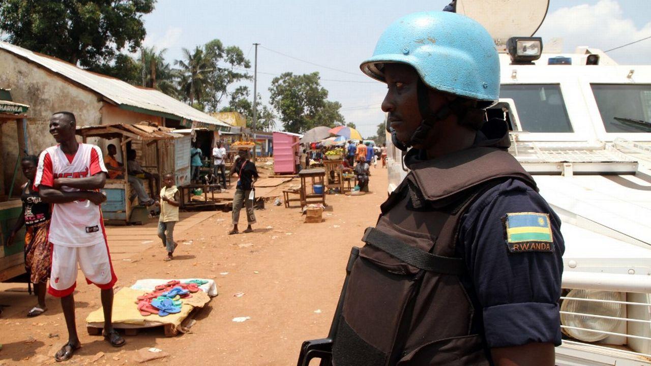 Un soldat rwandais en Centrafrique. [Edouard Dropsy - AFP]