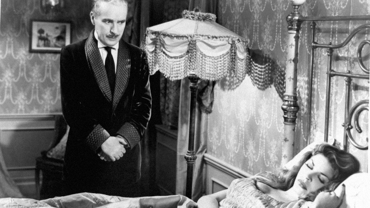 Charlie Chaplin dans Monsieur Verdoux, premier film où il n'apparaît pas en tant que Charlot. [PHOTO12.COM - COLLECTION CINEMA - PHOTO12 VIA AFP]