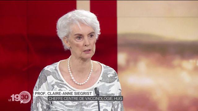 Claire-Anne Siegrist, directrice du Centre de vaccinologie HUG, revient sur l'évolution du virus [RTS]