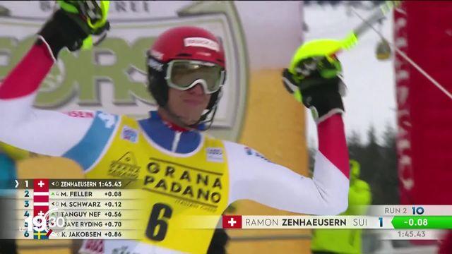 Le skieur valaisan Ramon Zenhäusern remporte le premier slalom de la saison. [RTS]
