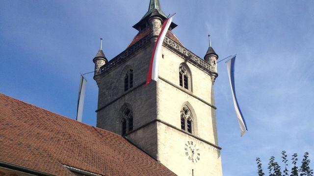 L'église Saint-Laurent d'Estavayer-le-Lac, dans le canton de Fribourg en Suisse. [Christophe95 - CC BY-SA 3.0 / Wikimedia Commons]
