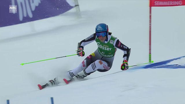 Semmering (AUT), Géant dames, 1e manche: Petra Vlhova (SVK) en tête [RTS]