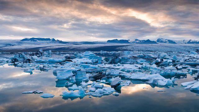 Icebergs flottant sur des eaux glacées. [Ben Pipe Photography - Cultura Creative via AFP]