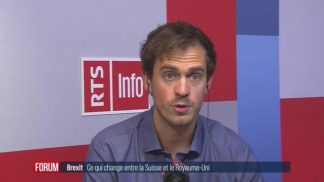 Quels vont être les changements dans les relations entre la Suisse et le Royaume-Uni après le Brexit? (vidéo) [RTS]