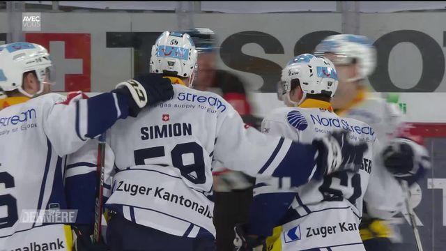 Hockey, National League, 31e journée: Bienne - Zoug (0-2) [RTS]