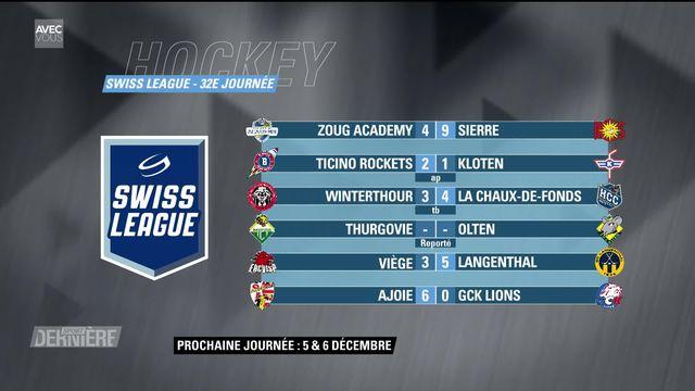 Hockey, Swiss League, 32e journée: résultats & classement [RTS]