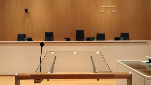 L'une des salles du nouveau Tribunal de Paris, en France.  [MANUEL COHEN - AFP]