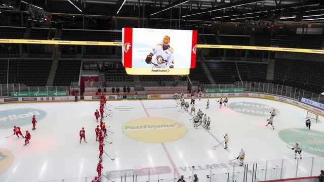 Les clubs de National et Swiss League ont adopté les différentes directives pour désigner les champions. [Salvatore Di Nolfi - Keystone]