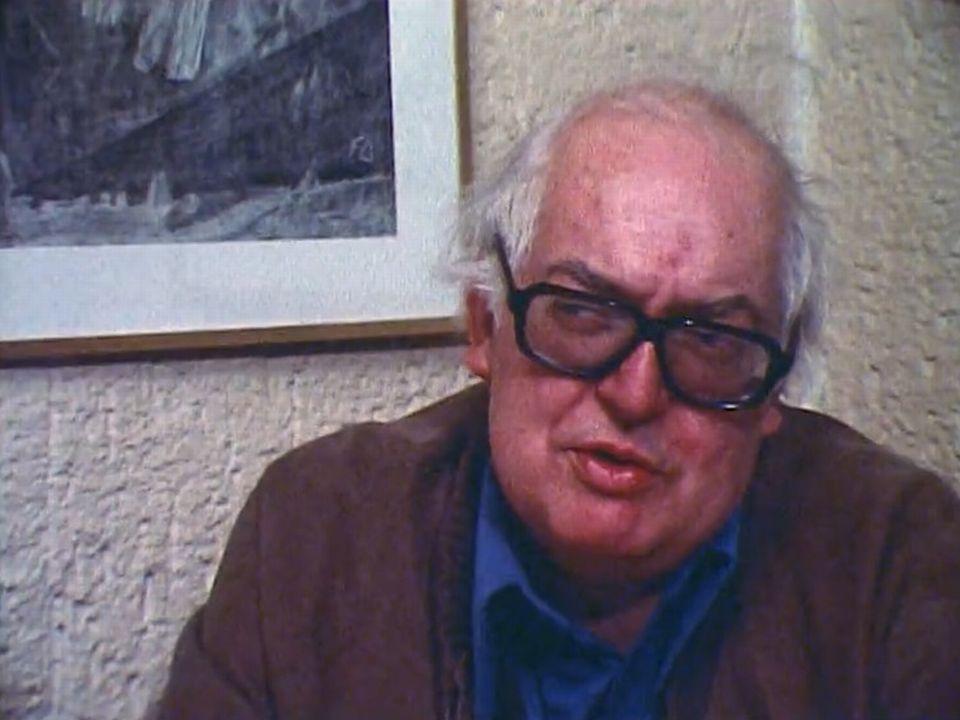 A l'occasion de ses 60 ans, Friedrich Dürrenmatt reçoit la TSR. [RTS]