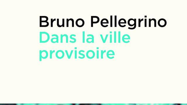 """La couverture du livre """"Dans la ville provisoire"""" de Bruno Pellegrino. [Editions Zoé]"""