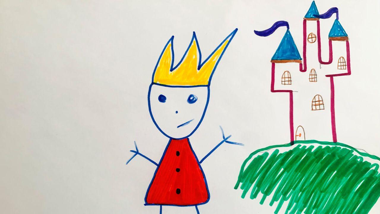 """""""Rois et reines"""", un dessin réalisé par Théo. [Théo]"""