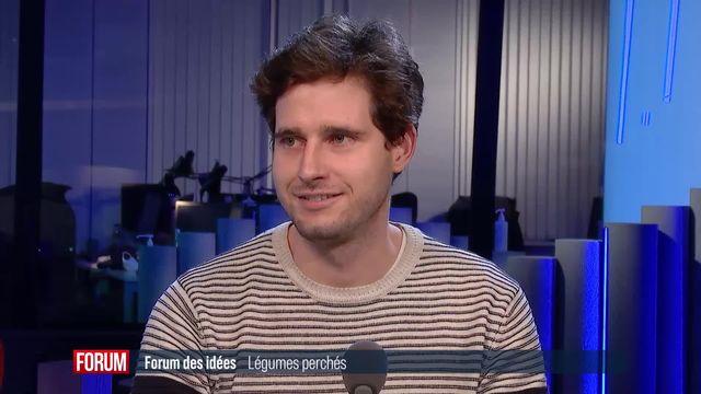 """Forum des idées (vidéo) - Le projet d'agriculture urbaine """"Légumes perchés"""" [RTS]"""