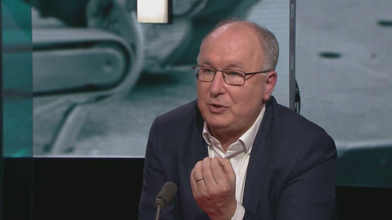 Pierre-Yves Maillard dans l'émission Infrarouge. [RTS]