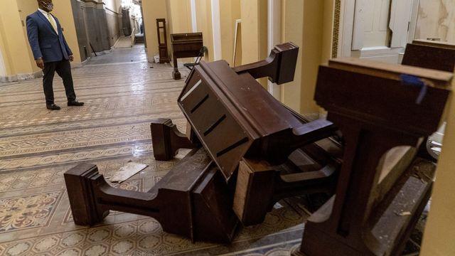 Le Capitole après les manifestations. [Andrew Harnik - AP Photo/Keystone]