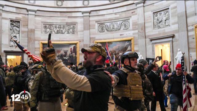 Chaos et consternation aux Etats-Unis après l'attaque du Capitole à Washington par les partisans de Donald Trump. [RTS]