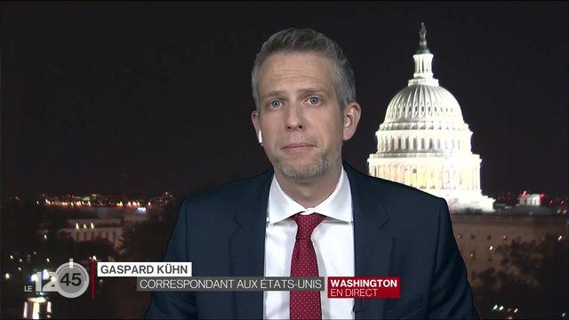 Les réactions des républicains au lendemain de l'assaut du Capitole. Analyse de Gaspard Kühn. [RTS]