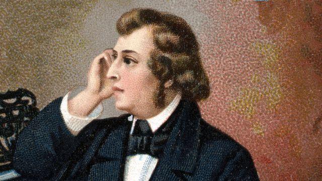 Portrait du compositeur polonais Frédéric Chopin (1810 - 1849). Chromolitographie de la fin du 19ème siècle. [Lee/leemage - AFP]