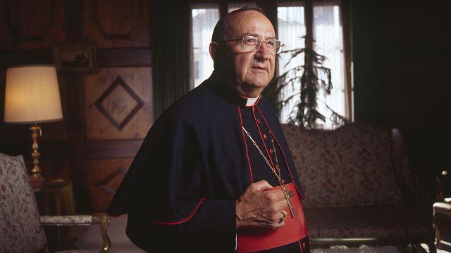 Le cardinal Henri Schwery, photographié en septembre 2005, avait été évêque de Sion jusqu'en 1995. [Gaetan Bally - Keystone]