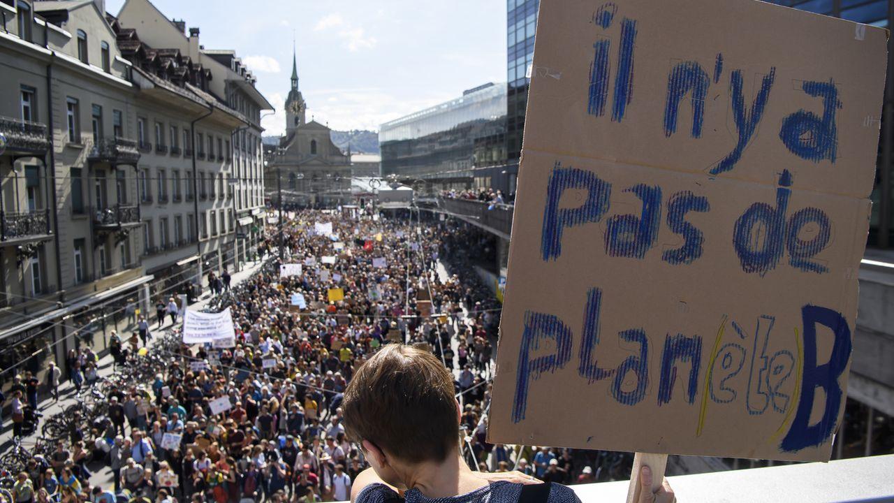 La Grève du Climat dévoile un Plan d'Action pour changer le monde. [Anthony Anex - Keystone]