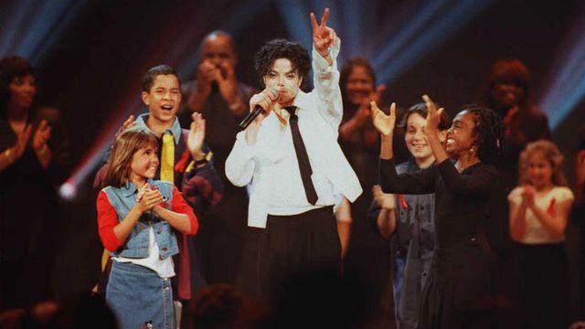 Michael Jackson en 1995 lors des MTV Video Music Awards à New York. [AFP]