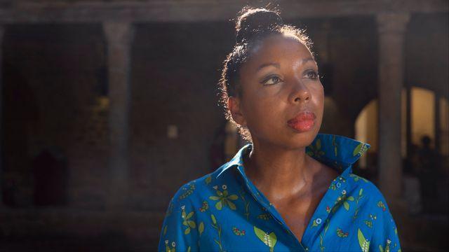 """Marie NDiaye, ici en août 2018, a remporté le Goncourt 2009 pour son roman """"Trois Femmes puissantes"""" [Idriss Bigou-Gilles / Hans Lucas - AFP]"""