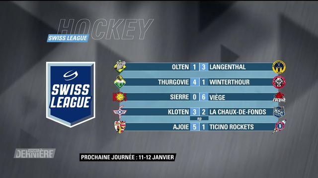 Swiss League, 15e & 34e journée: résultats & classement [RTS]