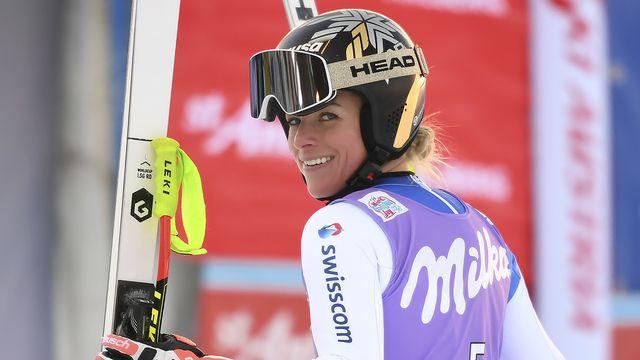 Lara Gut-Behrami attendait une victoire en super-G depuis 3 ans. [Helmut Fohringer - Keystone]